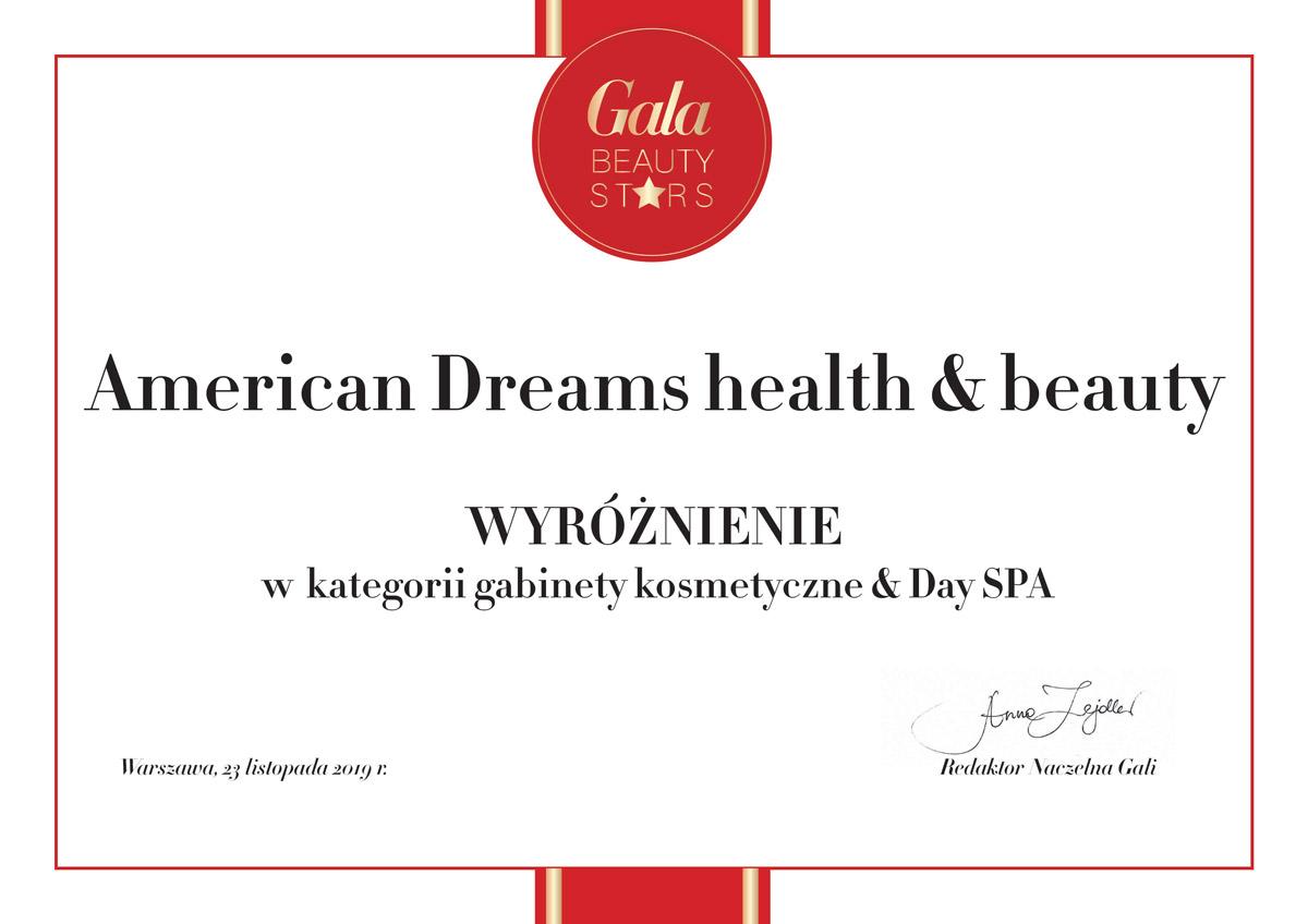 Wyróżnienie dla American Dreams w Gala Beauty Stars 2019